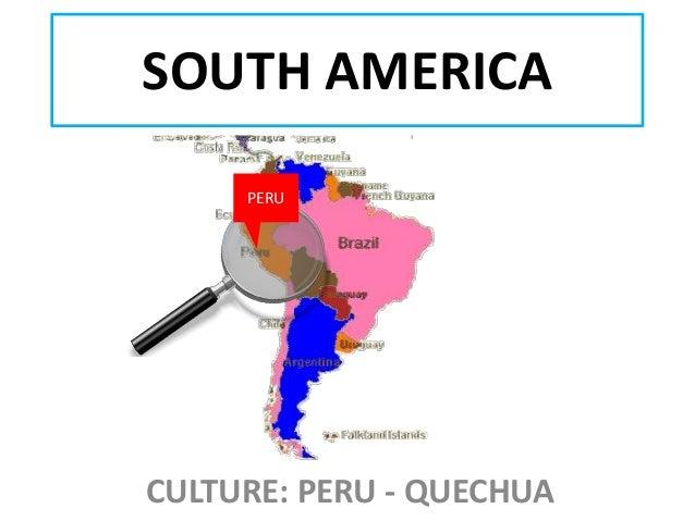 SOUTH AMERICA PERU  CULTURE: PERU - QUECHUA