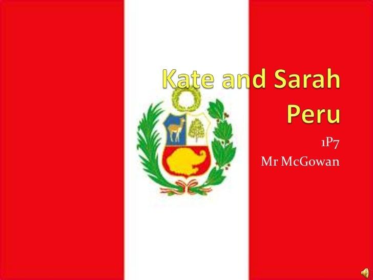 Peru kate and sarah