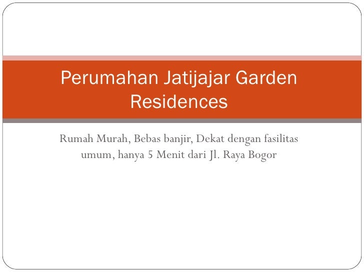 Perumahan jatijajar garden residences
