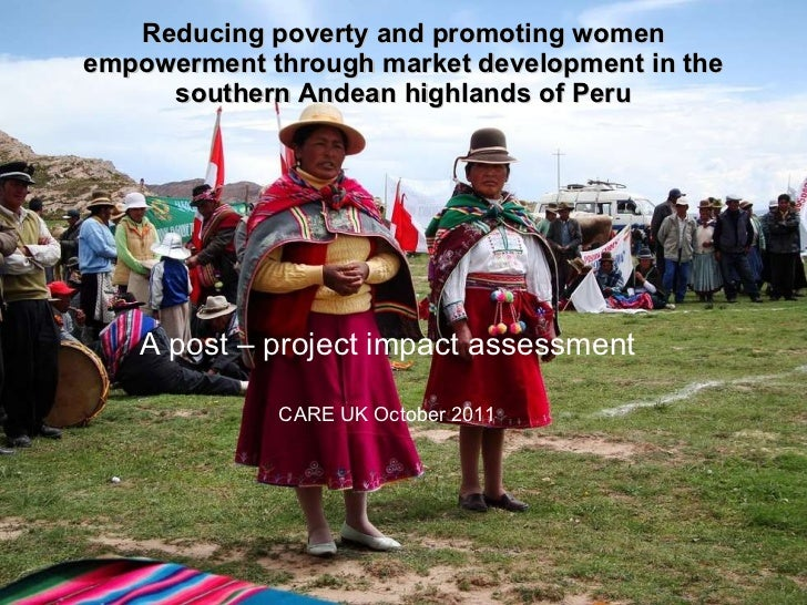 Reducing poverty and promoting women empowerment through market development in the southern Andean highlands of Peru A pos...