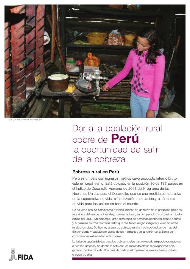 Pobreza Rural en Peru