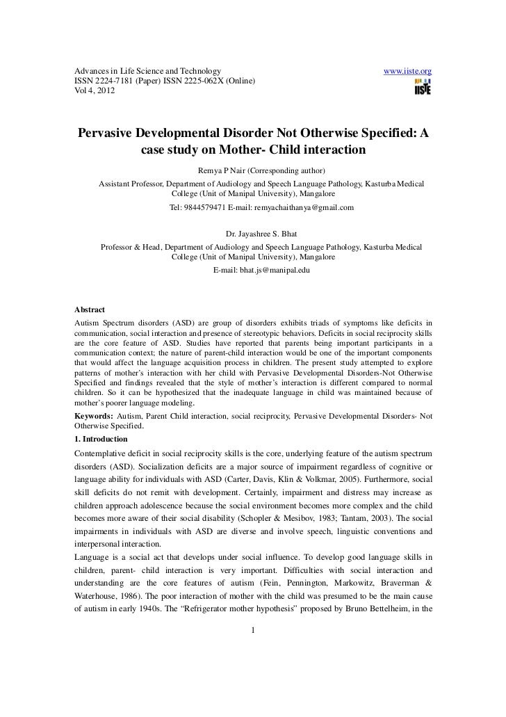 Pervasive developmental disorder not otherwise specified