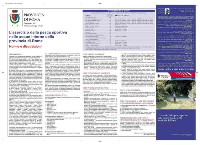 Pesca - Carta ittica della provincia di roma
