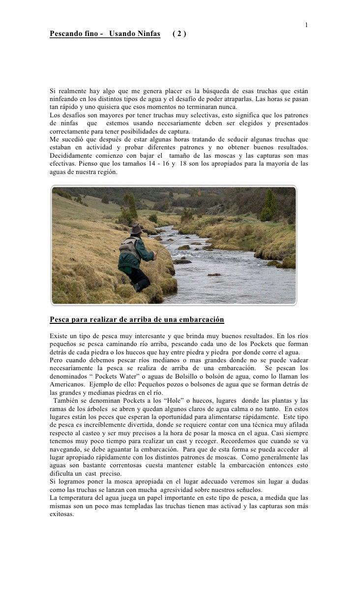 1 Pescando fino - Usando Ninfas               (2)     Si realmente hay algo que me genera placer es la búsqueda de esas tr...