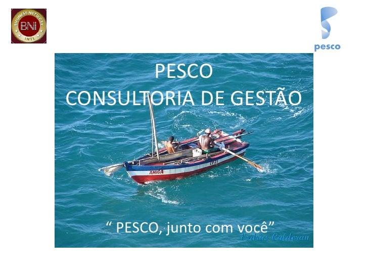 """PESCO CONSULTORIA DE GESTÃO        """" PESCO, junto com você"""""""