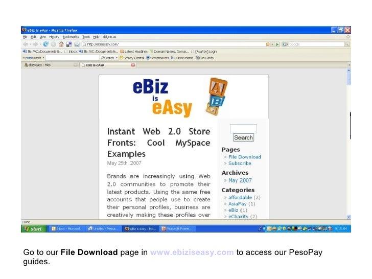 PesoPay File Download Page in www.ebiziseasy.com