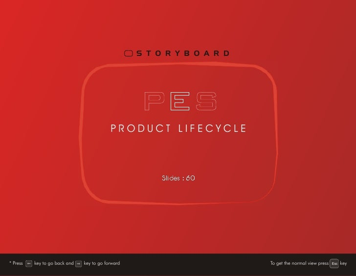 Pes Product Life Cycle Storyboard