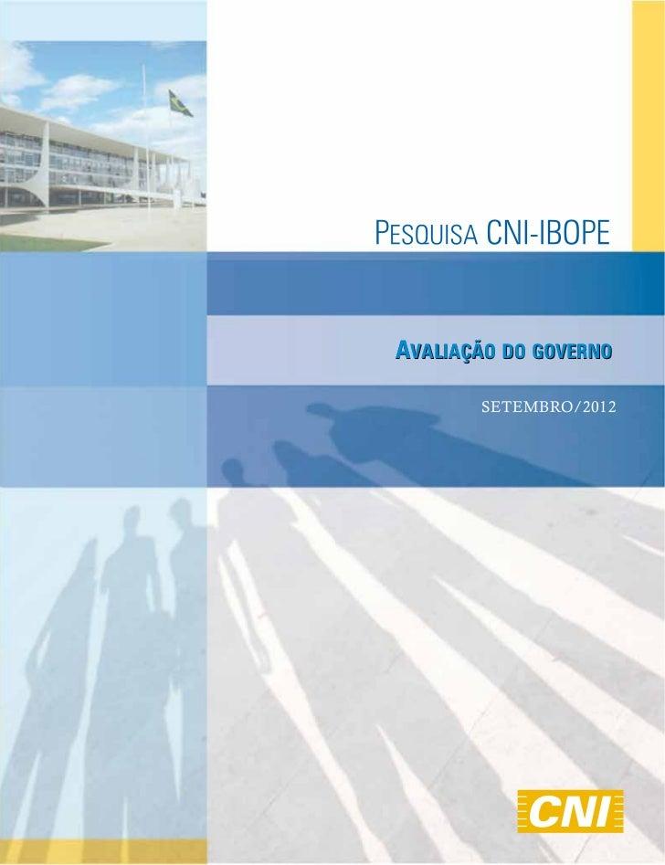 Íntegra da pesquisa CNI Ibope avaliação do governo   Setembro 2012