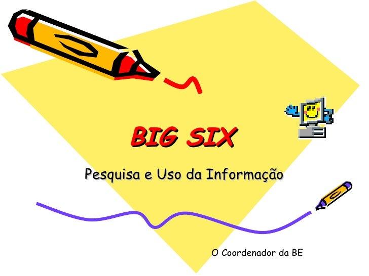 BIG SIX   Pesquisa e Uso da Informação O Coordenador da BE