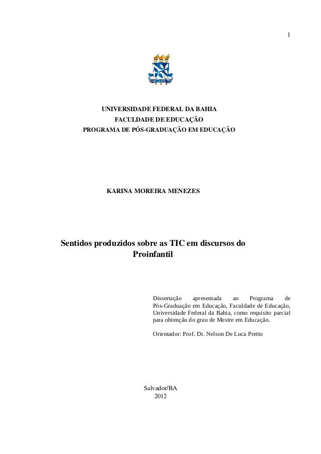 1          UNIVERSIDADE FEDERAL DA BAHIA              FACULDADE DE EDUCAÇÃO     PROGRAMADEPÓSGRADUAÇÃOEMEDUCAÇÃO   ...