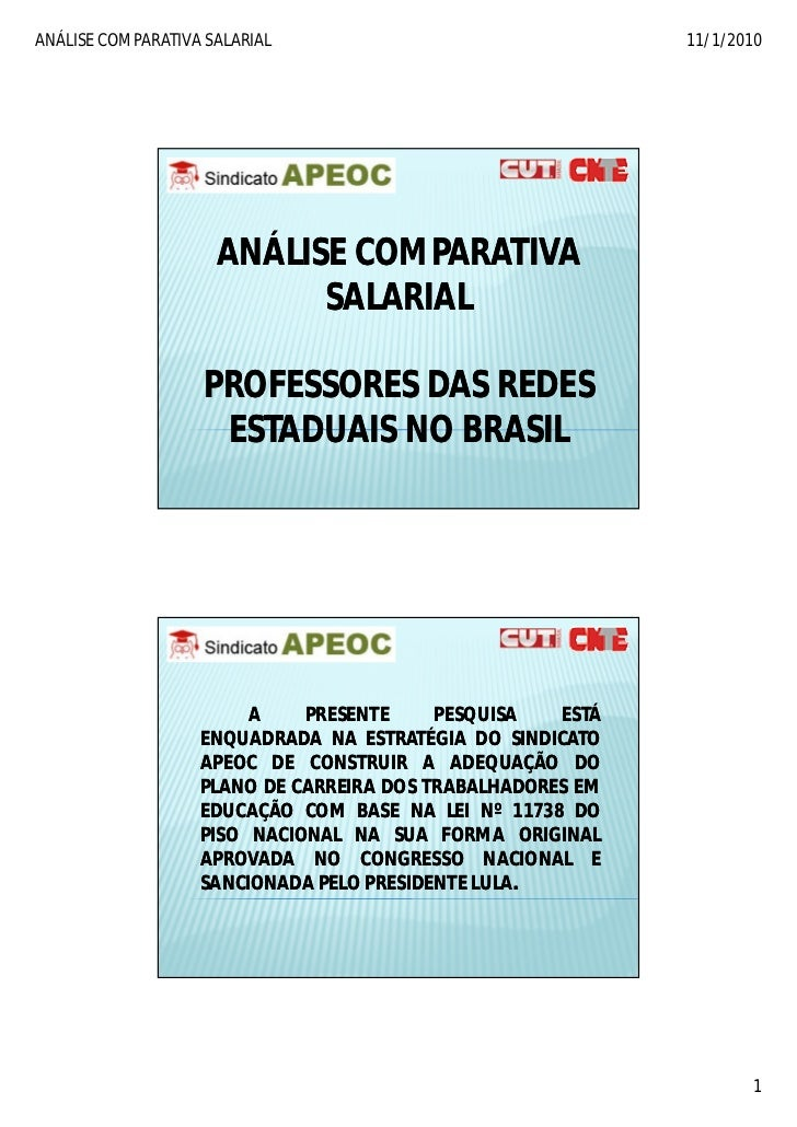 ANÁLISE COMPARATIVA SALARIAL                                11/1/2010                          ANÁLISE COMPARATIVA        ...