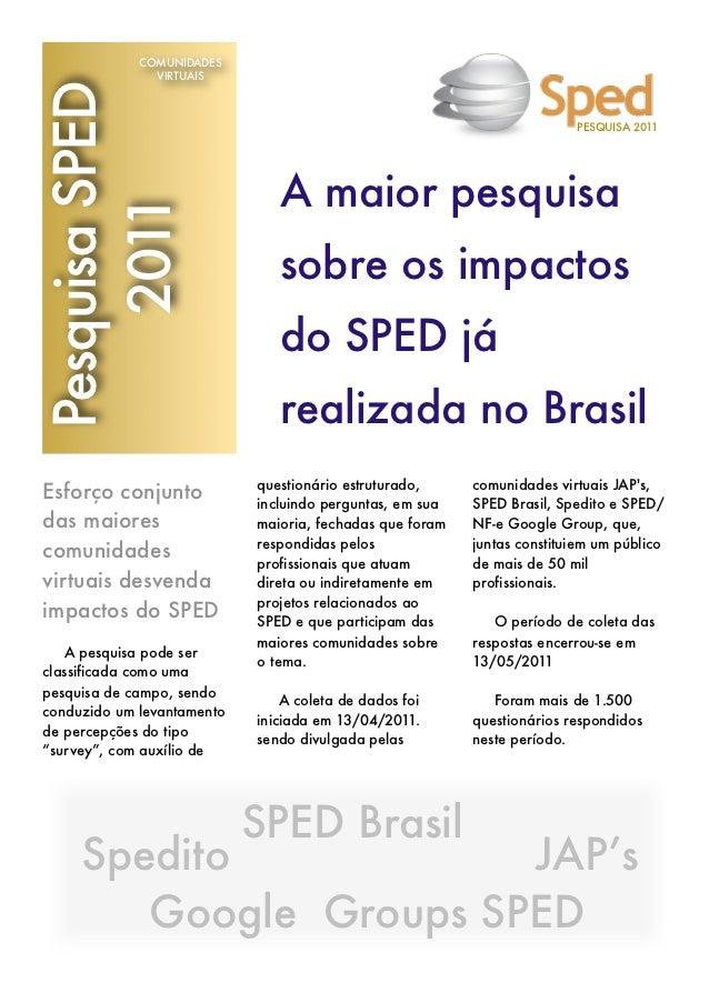 Pesquisa Impactos do SPED 2011