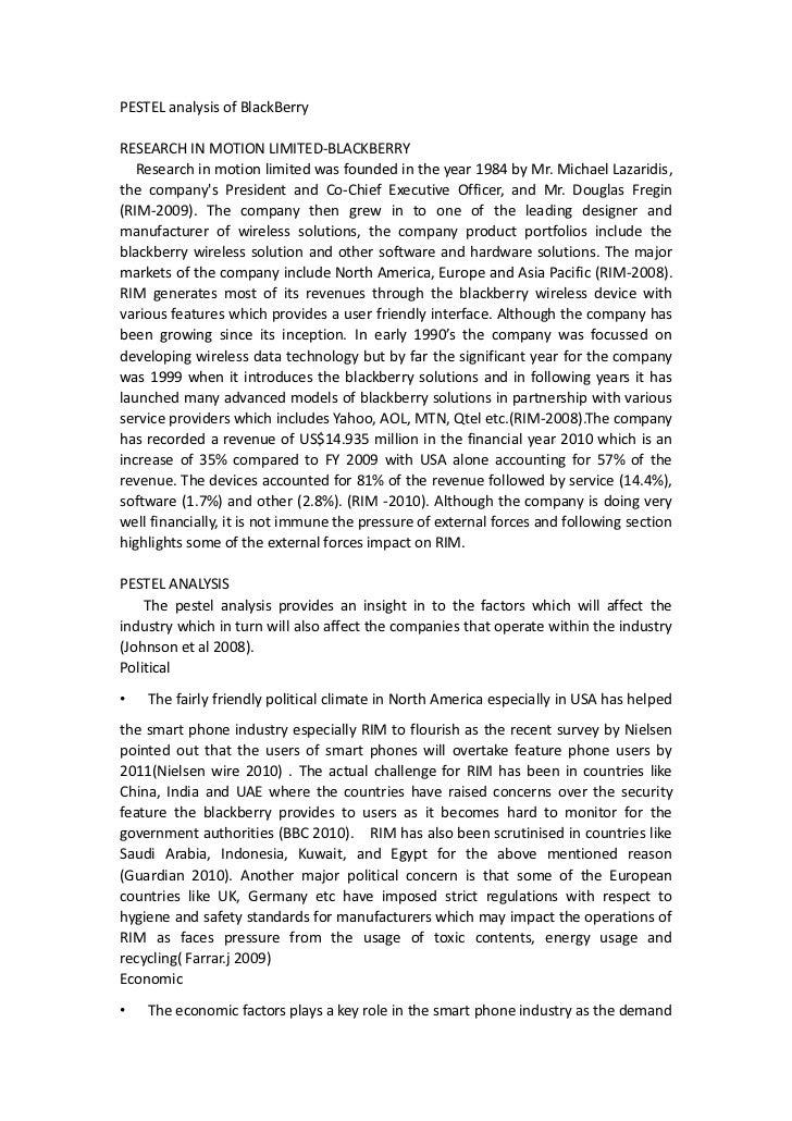 Pest analysis for rim