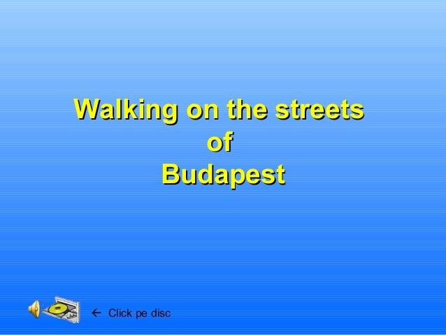 Walking on the streetsWalking on the streets ofof BudapestBudapest  Click pe disc
