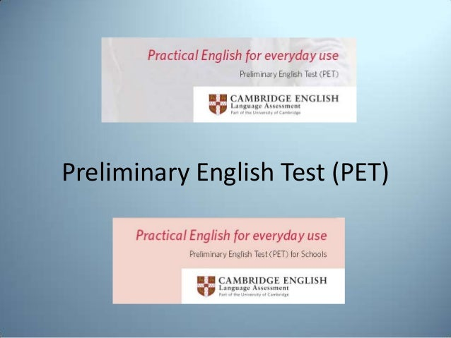 Preliminary English Test