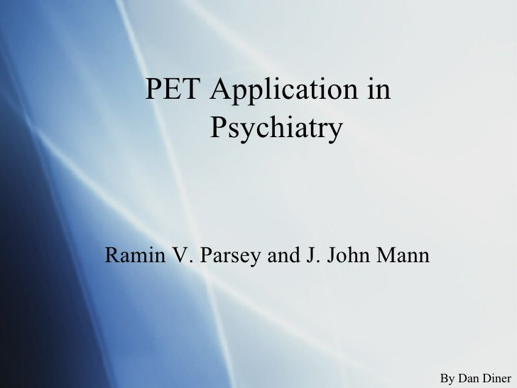 PET Application In Psycology