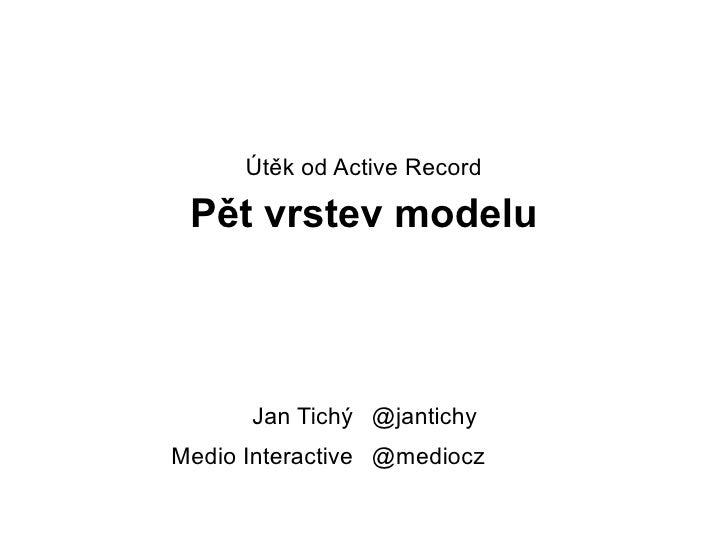 @jantichy @mediocz Jan Tichý Medio Interactive Útěk od Active Record Pět vrstev modelu