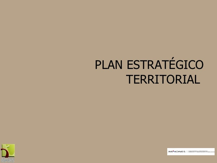 Plan Estratégico Territorial