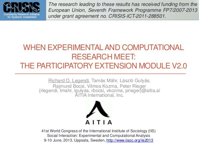 When Experimental and Computational Research Meet: The Participatory Extension Module v2.0