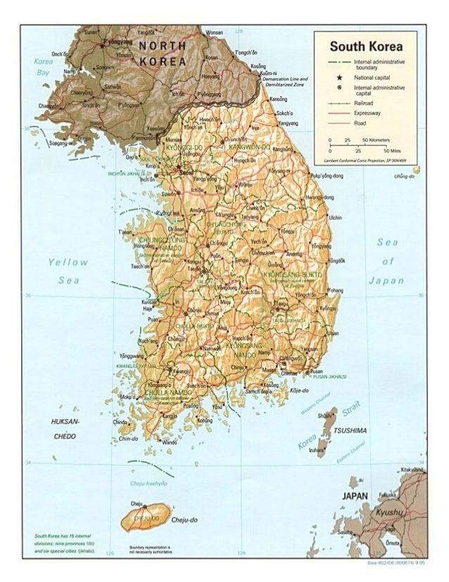 Peta Negara Korea Selatan