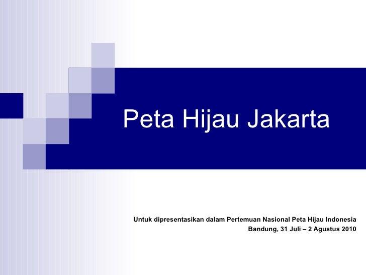 Peta Hijau Jakarta (2010)