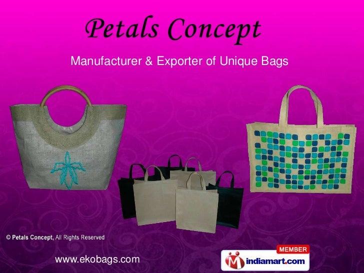 Manufacturer & Exporter of Unique Bags<br />