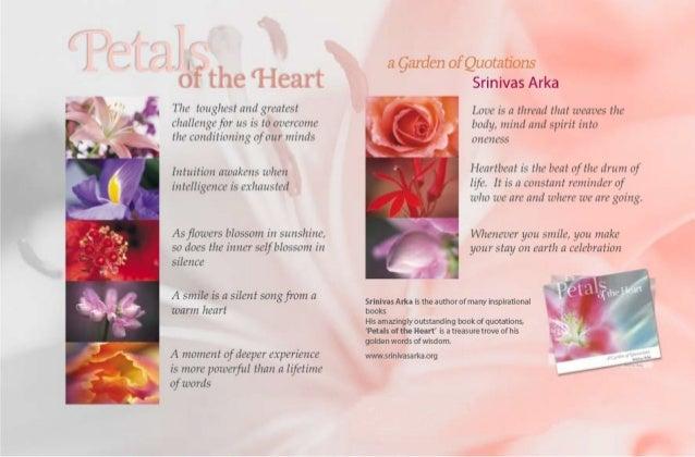 Petals of the Heart flyer by Srinivas Arka