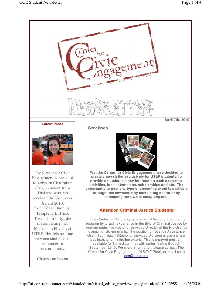 CCE Student Newsletter                                                                            Page 1 of 4             ...