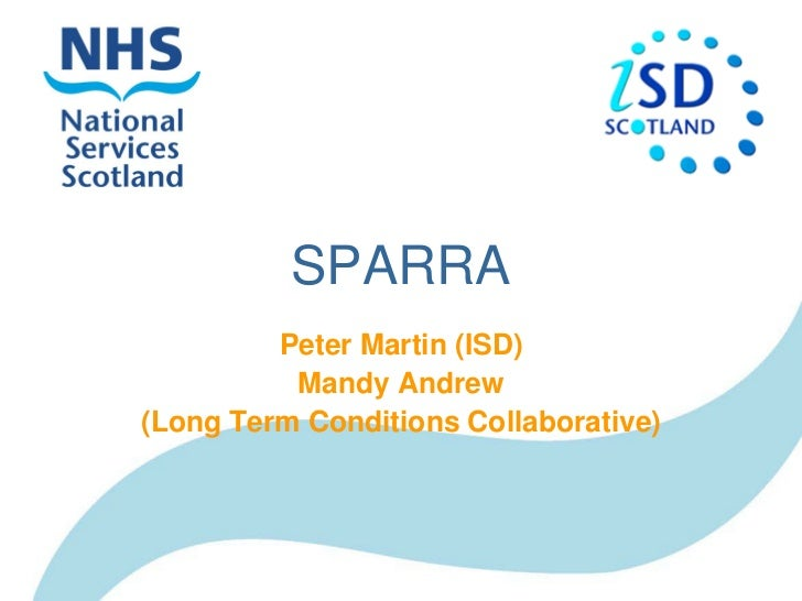 SPARRA         Peter Martin (ISD)          Mandy Andrew(Long Term Conditions Collaborative)