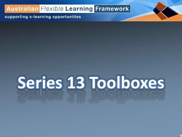 Series 13 Toolboxes<br />