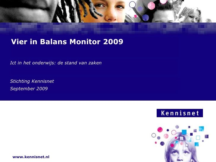 Basispresentatie Vier In Balans Monitor 2009 Def