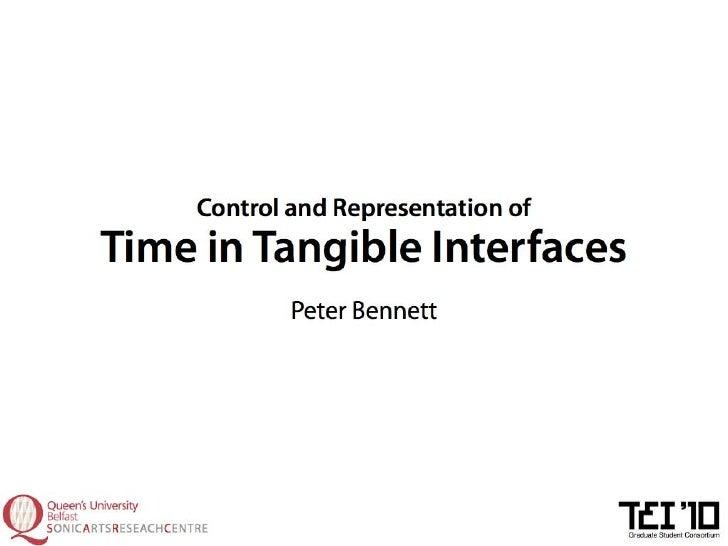 Peter Bennett TEI'10 Graduate Consortium Presentation