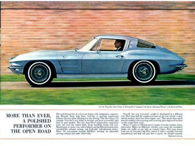 Peter Bouchard 1963 Chevy Corvette Sales Brochure