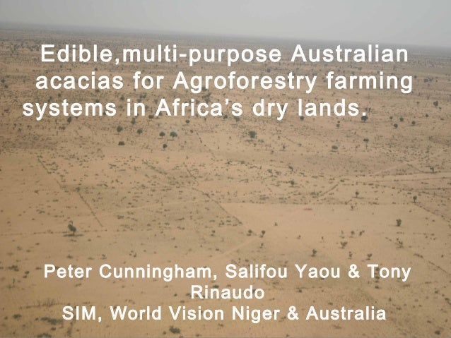 Serving In Mission  Edible,multi-purpose Australian acacias for Agroforestry farming systems in Africa's dry lands.  Peter...