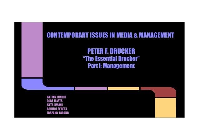 Peter Drucker and Media Management