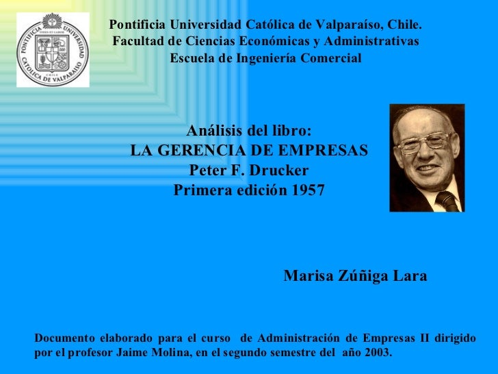 Pontificia Universidad Católica de Valparaíso , Chile. Facultad de  C iencias Económicas y Administrativas Escuela de Inge...