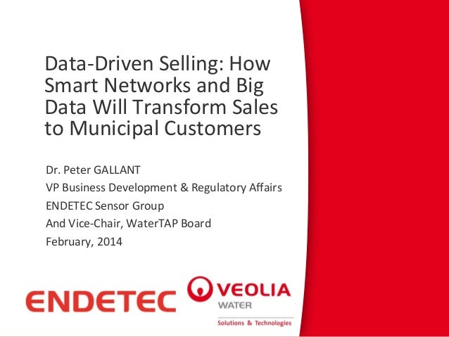 Data-Driven Selling: How Smart Networks and Big Data Will Transform Sales to Municipal Customers Dr. Peter GALLANT VP Busi...