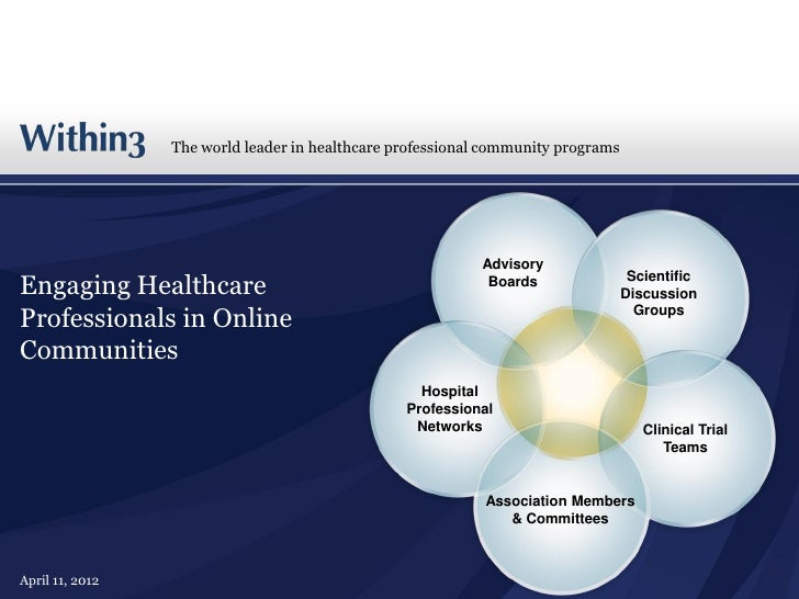The world leader in healthcare professional community programs                                                           A...