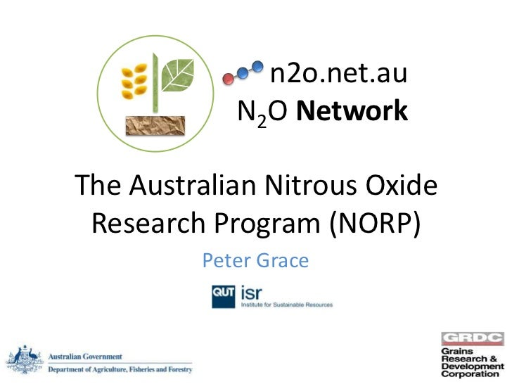 n2o.net.au            N2O NetworkThe Australian Nitrous Oxide Research Program (NORP)         Peter Grace