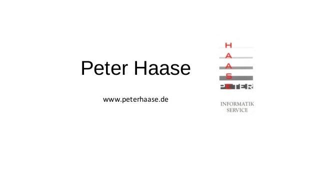 Peter Haase - Meine Geschäftsfelder
