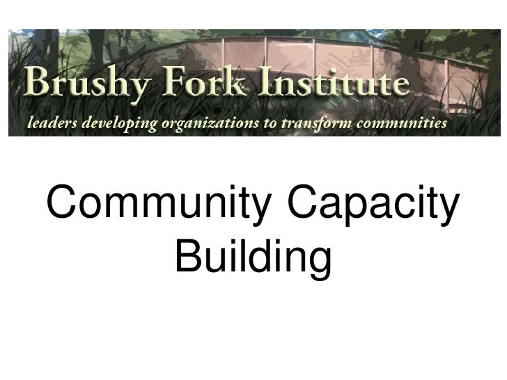 Community Capacity    Building