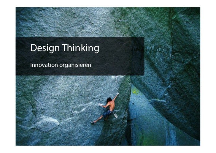 Design ThinkingInnovation organisieren