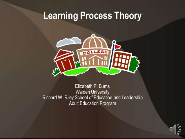 Learning Process Theory                 Elizabeth P. Burns                 Walden UniversityRichard W. Riley School of Edu...