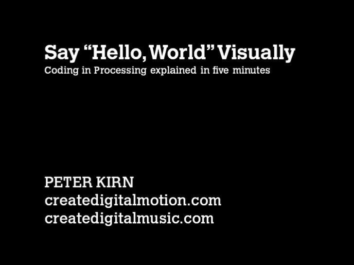 IgniteNY: Visual code literacy, in 5 minutes