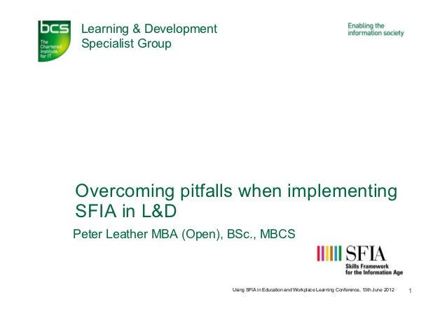 Peter leather   overcoming sfia implementation pitfalls