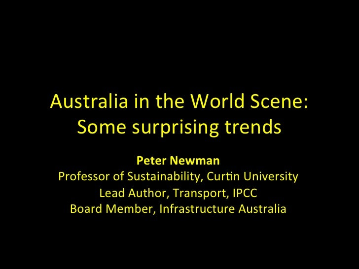 Peter Newman - Australia in the world scene