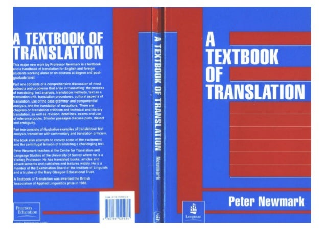 Peter newmark   textbook of translation