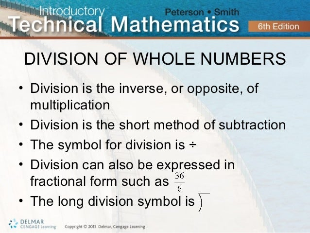 Division of Whole Numbers Division of Whole Numbers•