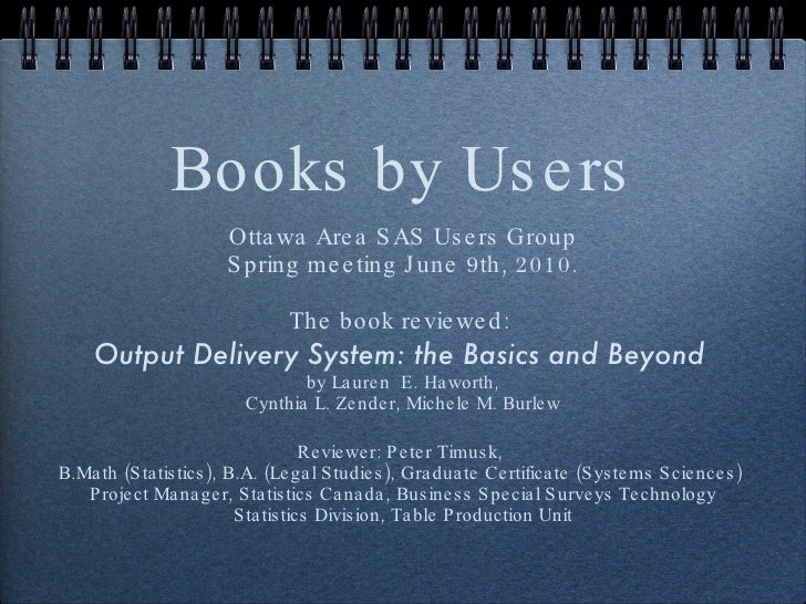 Output Delivery System: The Basics and Beyond, a book review by Peter Timusk