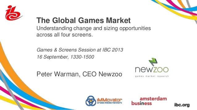 Peter Warman (Newzoo) @ Games and Screens, IBC